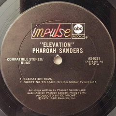 PHAROAH SANDERS:ELEVATION(LABEL SIDE-A)