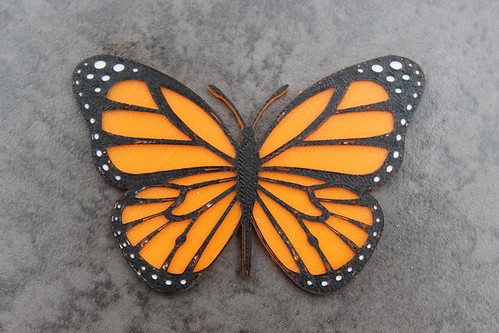 3d Printing Monarch Butterfly Magnet Flickr Photo Sharing