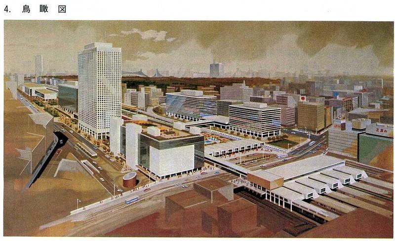 大新宿構想時代の上越新幹線新宿駅地下ホーム (1)