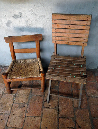 Two chairs in San Sebastian, a Pueblo Magico up in the mountains above Puerto Vallarta