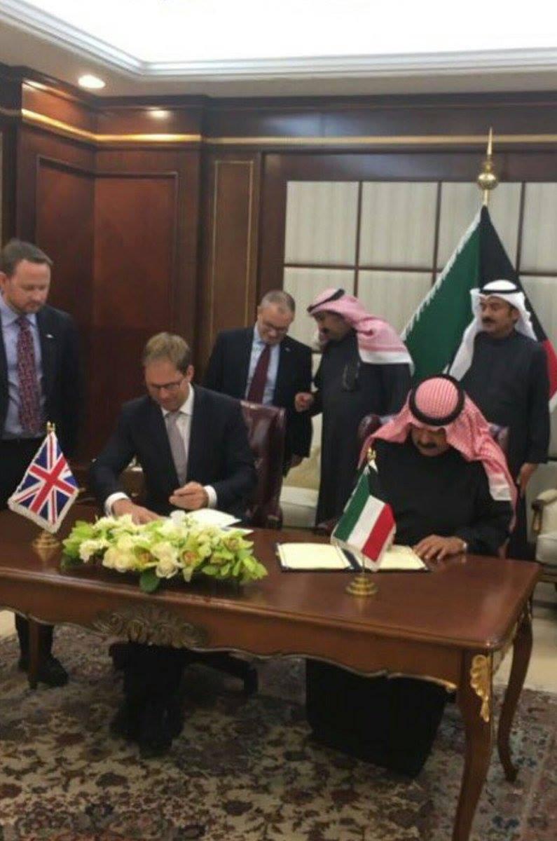 توقيع اتفاقية بين الكويت وبريطانيا