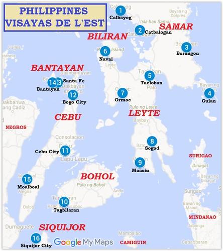Trajet-Visayas de l'est