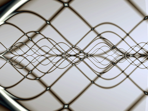 Fractal sine waves (wire rendering) | by roddh