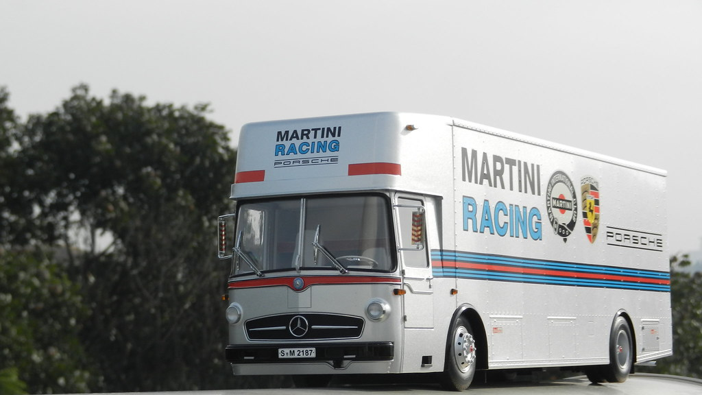 Used Cars For Sale In Winnipeg >> Schuco 1:18 Mercedes Benz O317 Porsche Transporter (Martini Racing). - DX Trucks | SUV | Haulers ...