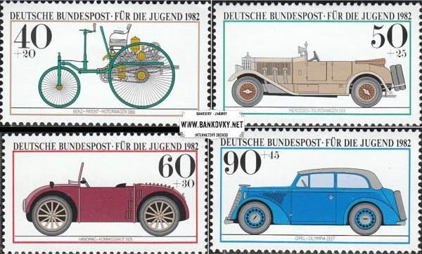 Známky Západné Nemecko 1982 Automobily, MNH séria