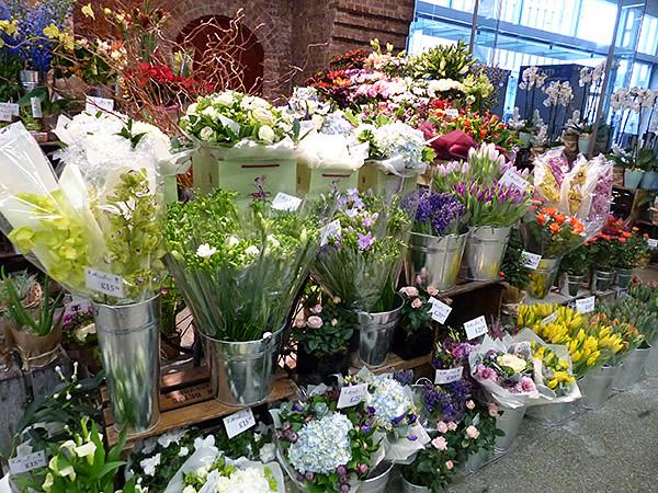 fleurs à Saint-Pancras