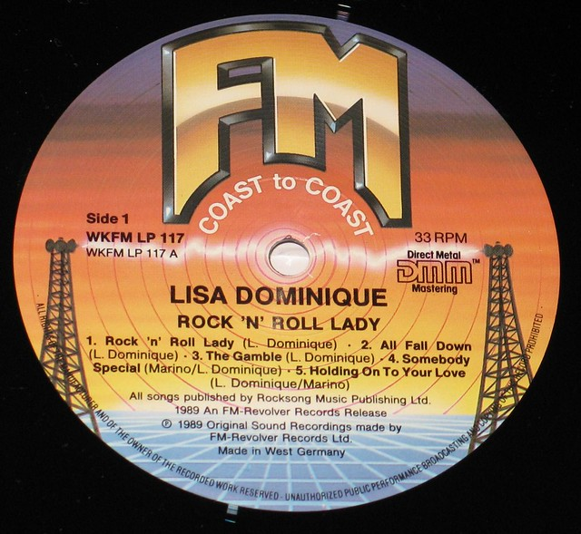 "Lisa Dominique Rock 'n' Roll Lady 12"" vinyl LP"