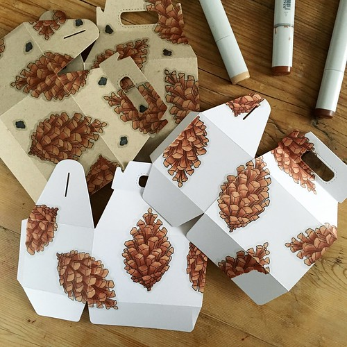 Pinecone goodie boxes