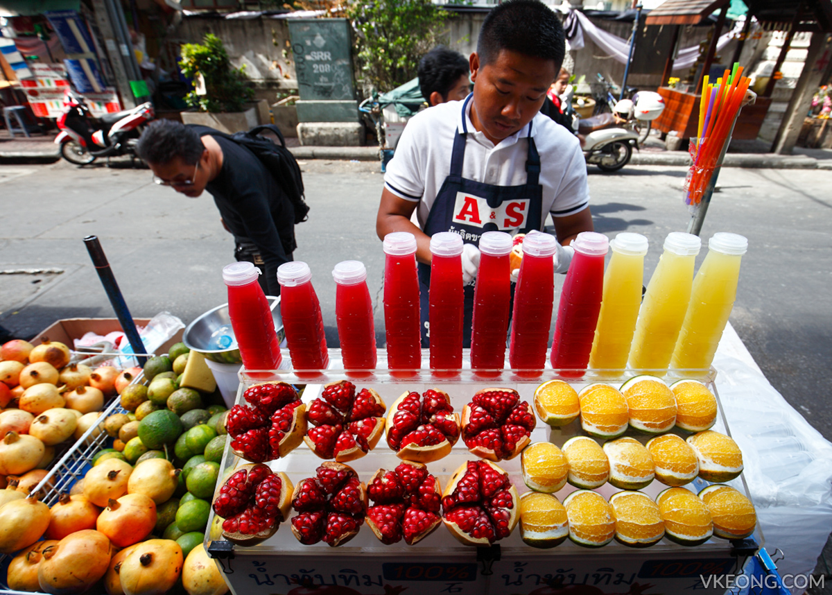 Bangkok Chinatown Yaowarat Fruit Juice