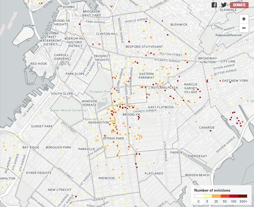 on ditmas park brooklyn map
