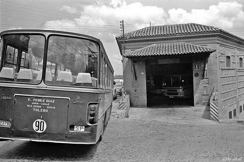 Cochera en las Covachuelas en Toledo en 1981. Fotografía de Eddy Allart © Eddy Allart