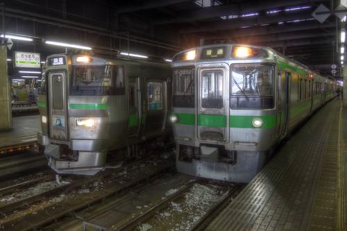 Sapporo Station on JAN 01, 2016 (2)