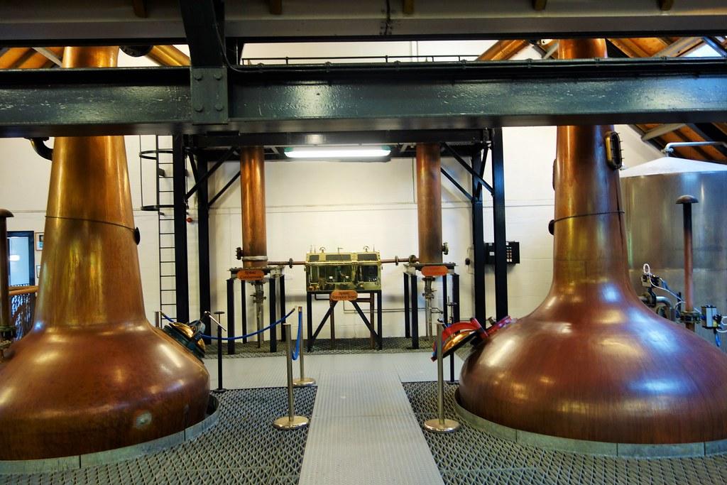 Stills at Isle of Arran Distillery, Lochranza, Arran.