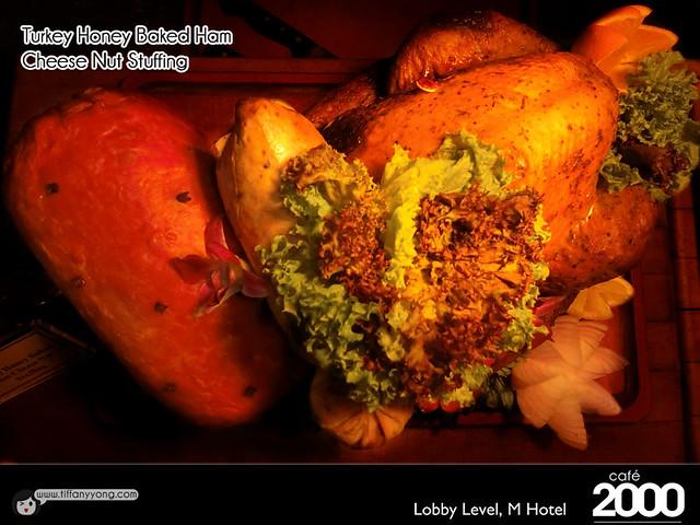 M Hotel Cafe 2000 Christmas Turkey Baked Ham