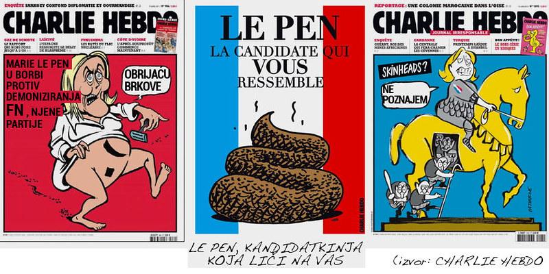 Charly Hebdo i Marie Le Pen