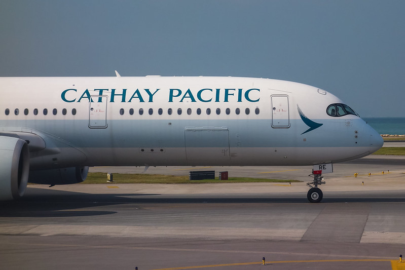 B-LRE Cathay Pacific Airbus A350-900 國泰航空 香港國際機場 VHHH キャセイパシフィック航空