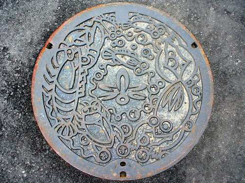 Shikatsu Aichi, manhole cover (愛知県師勝町のマンホール)
