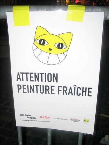 Attention peinture fra che esplanade de beaubourg en trava flickr - Attention peinture fraiche ...