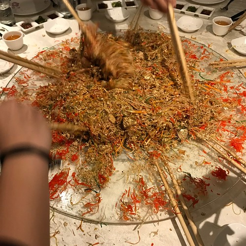 Tossing the Yu Sheng at Man Fu Yuan's CNY 2017 Media Preview