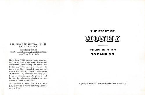 Chase Manhattan pamphlet Story of Money