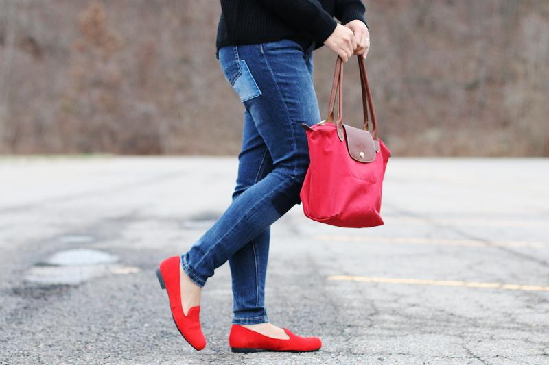 rhea-footwear-red-flats-longchamp-bag-2