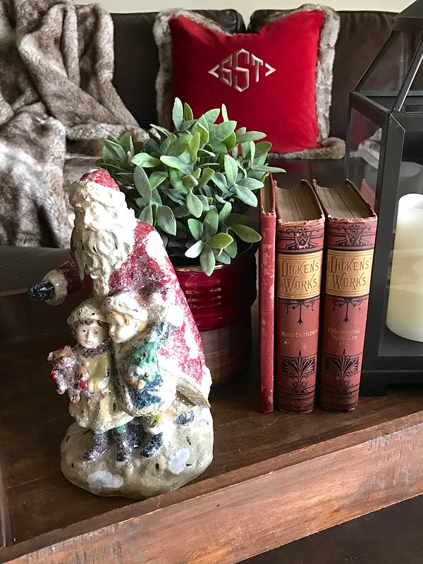 Reproduction Santa-Vintage Dickens Books-Housepitality Designs
