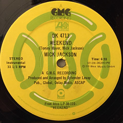 MICK JACKSON:WEEKEND(LABEL SIDE-B)