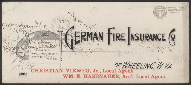 German Fire Insurance Co. Ink Blotter