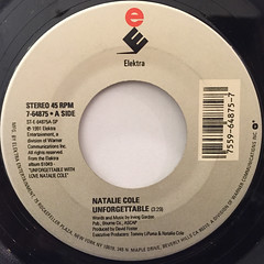 NATALIE COLE:UNFORGETTABLE(LABEL SIDE-A)