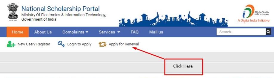 NAtional Scholarship Portal Application Renewal