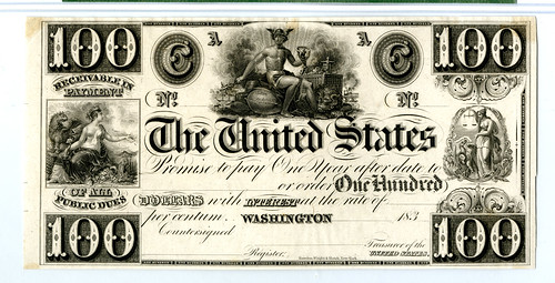 The United States, Act of October 12,1837 Interest Bearing Proof Treasury Note