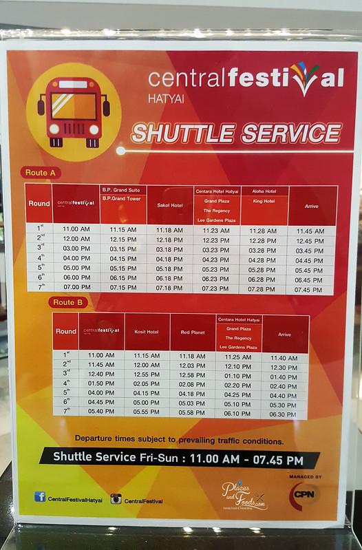 central festival hatyai free shuttle