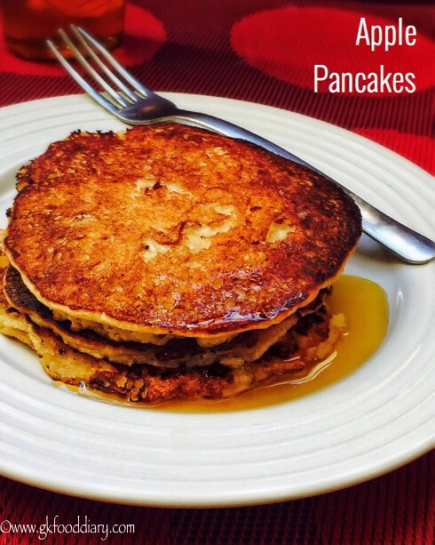 Apple Pancakes Recipe for Babies, Toddlers and Kids
