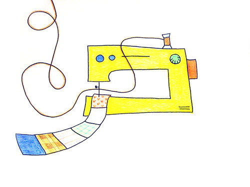 Illustration - Sewing machine | by Claudia • F de Feltro