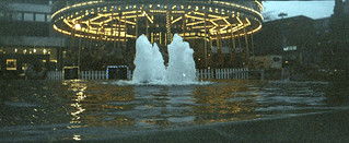 carousel and fountain