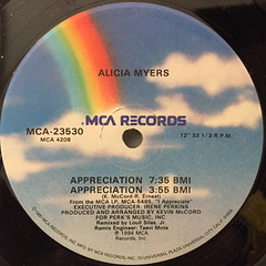ALICIA MYERS:JUST CAN'T STAY AWAY(LABEL SIDE-B)
