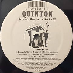 QUINTON:QUINTON'S HERE(LABEL SIDE-A)