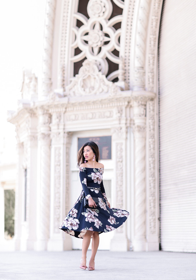 classy off shoulder bardot floral dress extra petite blog
