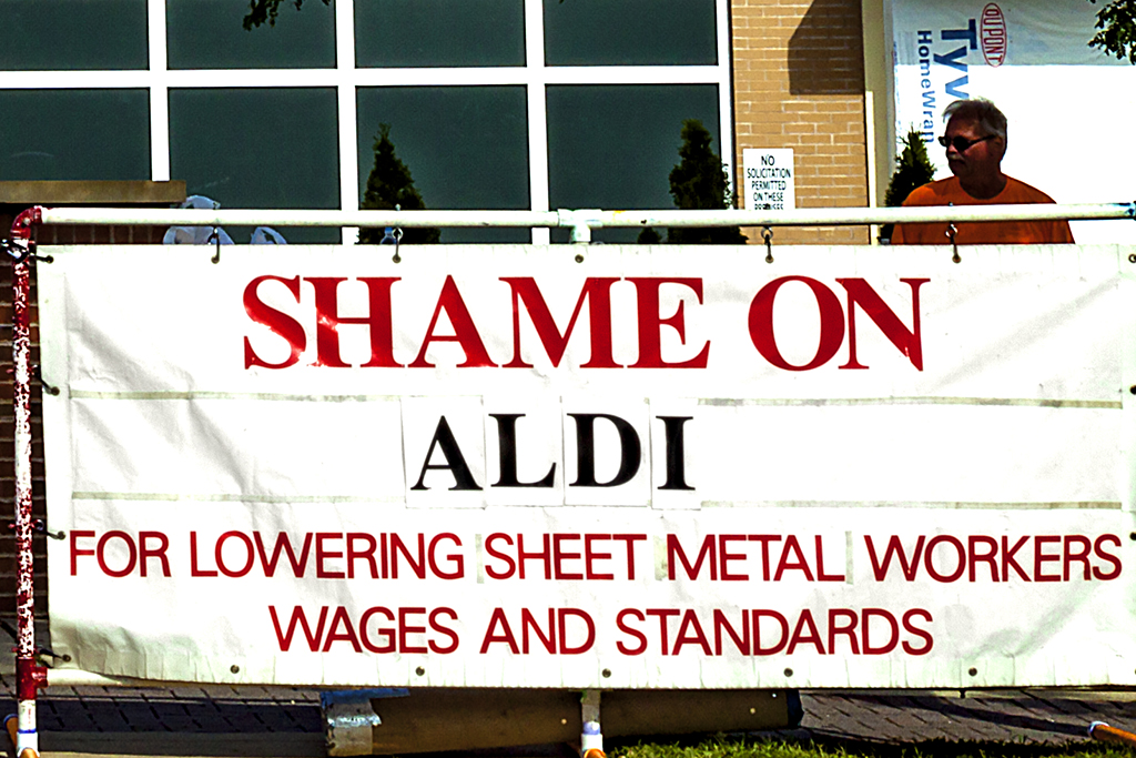SHAME ON ALDI--Woodbury (detail)
