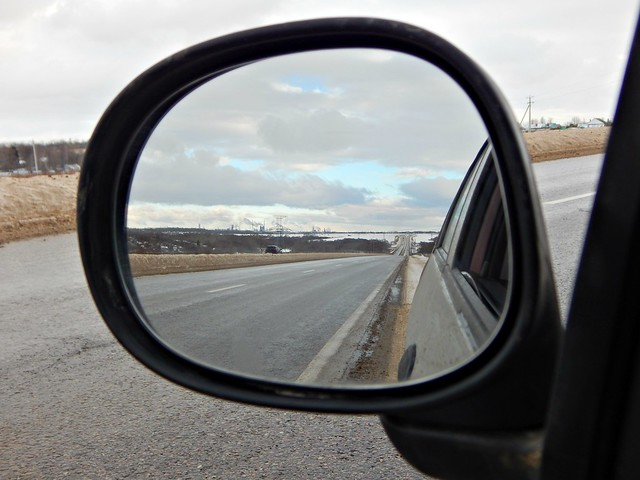 дорога в зеркале | road in the rear view mirror | HoroshoGromko.ru