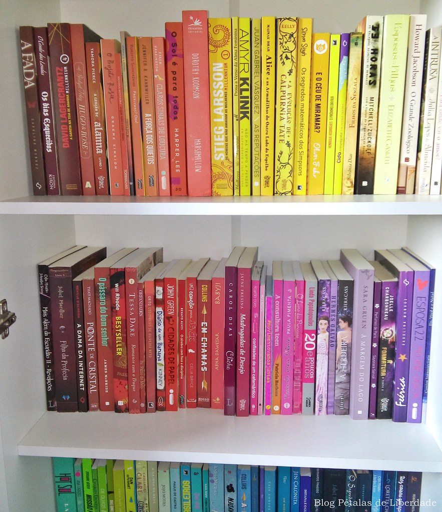 livro, amarelo, laranja, marrom, vermelho, rosa, roxo