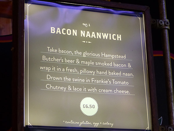 bacon naanwich