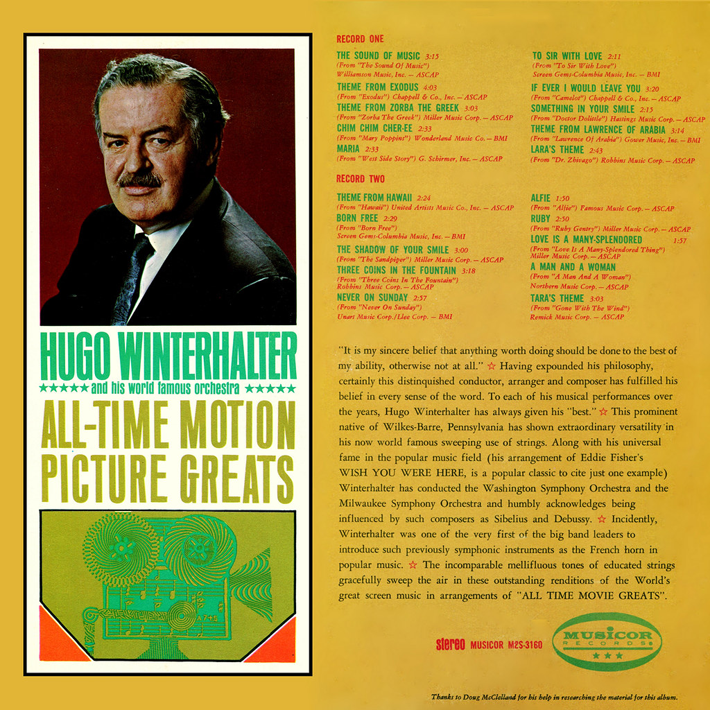 Hugo Winterhalter - All Time Movie Greats b