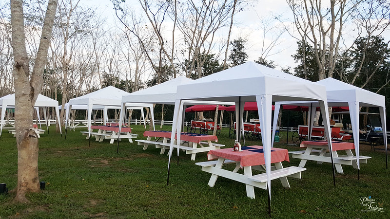 glamping dining area
