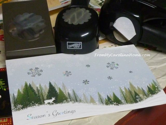 Christmas Card Crafting ~ From My Carolina Home