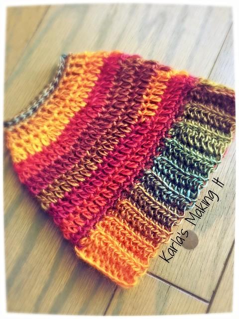 Messy Bun Hat Free Crochet Pattern from Karla's Making It