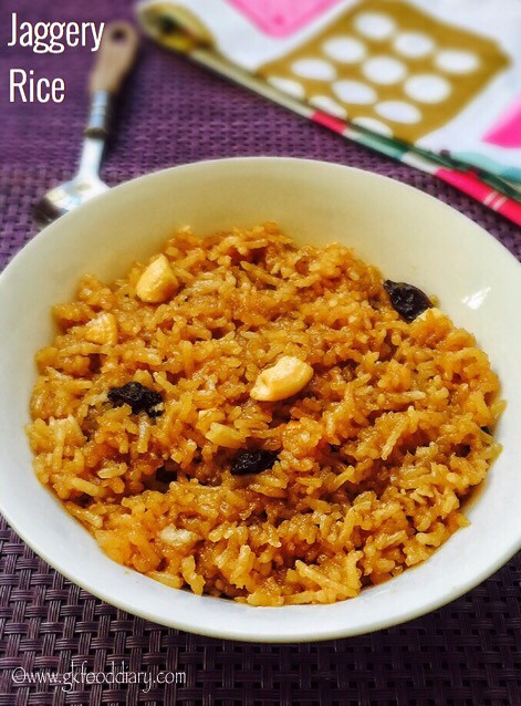 Jaggery Rice Recipe for Toddlers and Kids1