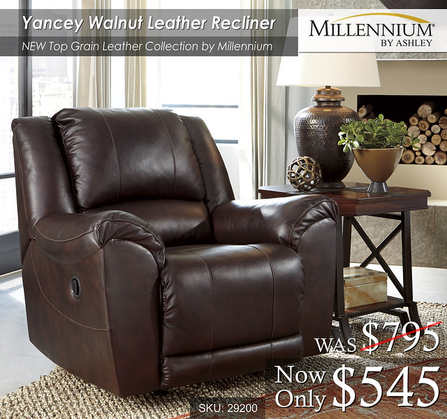 Yancey Walnut Recliner