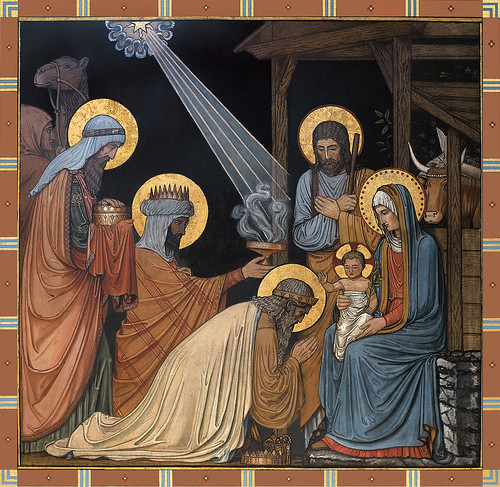 Epiphany the adoration of the babe