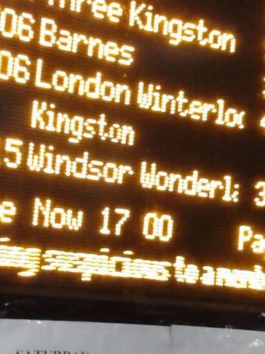 Winter Puns on the Train Departure Board